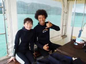 体験ダイビングでコーラルへブン→MANTA!